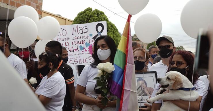 Fotos y video: Con mariachis despidieron a Juliana Giraldo en Jamundí, Valle