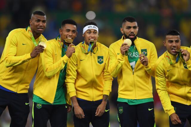 333854_Selección masculina fútbol de Brasil, campeona Olímpicos 2016
