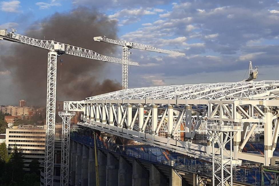 Incendio Santaiago Bernabeu Foto Redes.