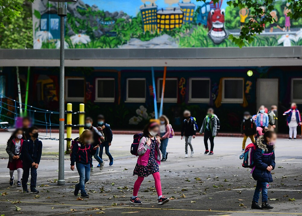 367854_Regreso a clases en medio de la pandemia // Foto: AFP, imagen de referencia