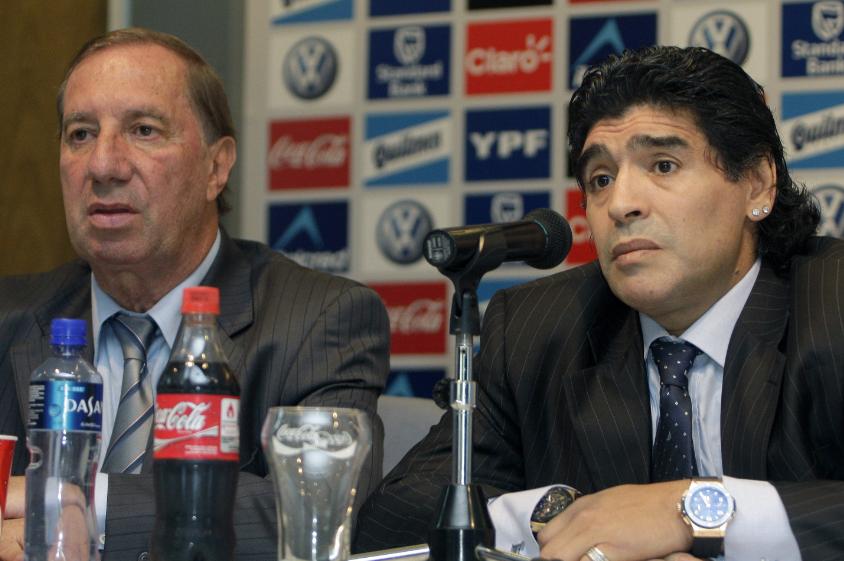 Carlos Salvador Bilardo y Diego Maradona.