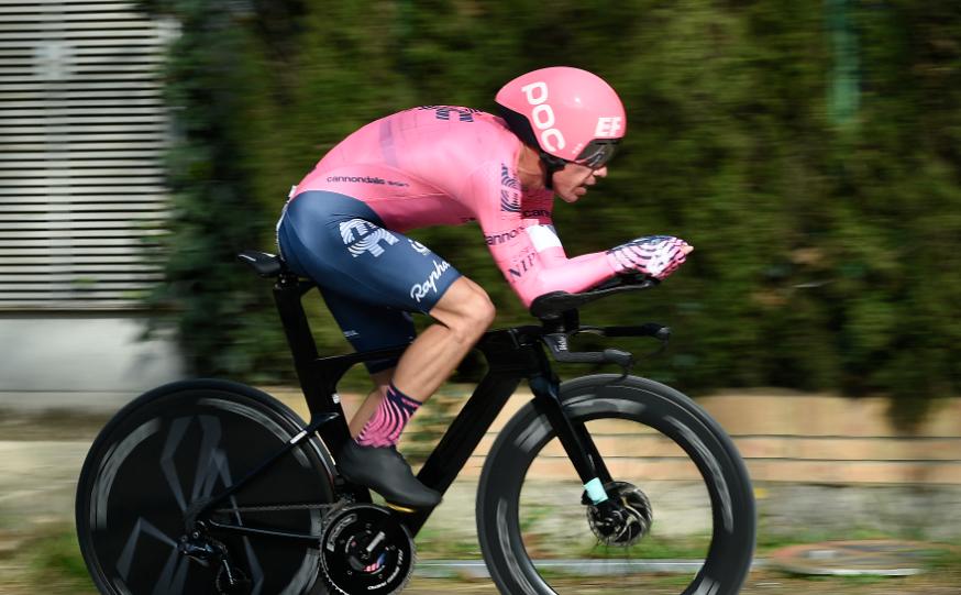 Rigoberto Urán ocupó el puesto 21 en la contrarreloj de la Vuelta a Cataluña.