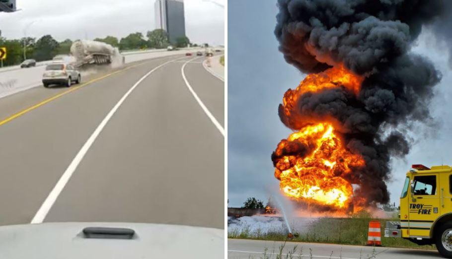 incendio camión gasolina