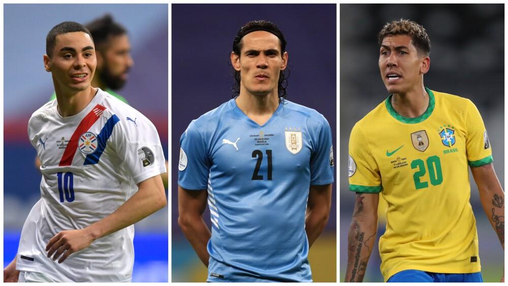 Jugadores sudamericanos no cedidos por los clubes