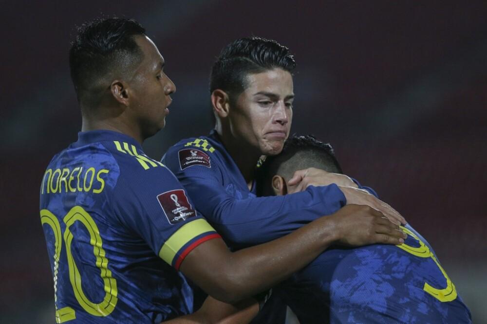 Morelos, James y Falcao - Selección Colombia