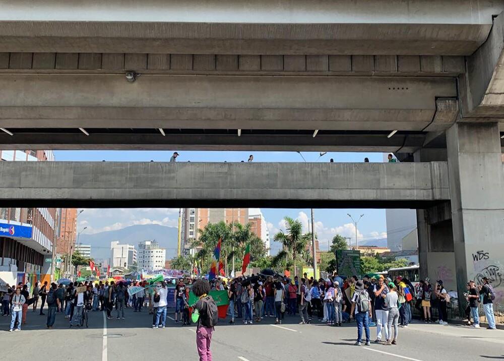 349925_BLU Radio. Foto referencia marcha en el centro de Medellín / Foto: BLU Radio