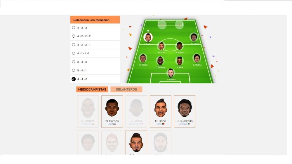 Arma tu Selección Colombia final