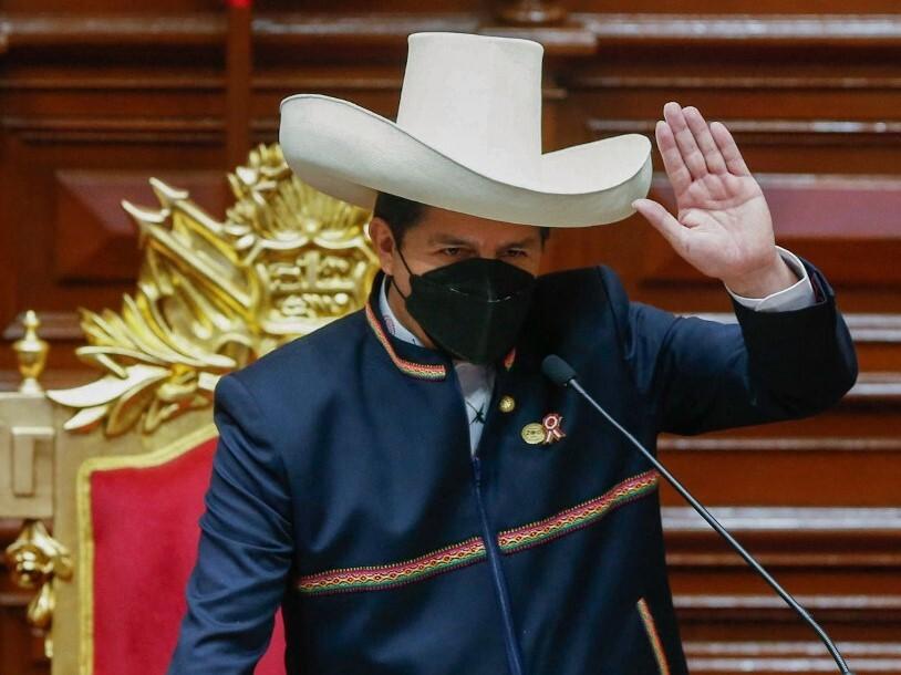 Juramentación de Pedro Castillo como presidente de Perú
