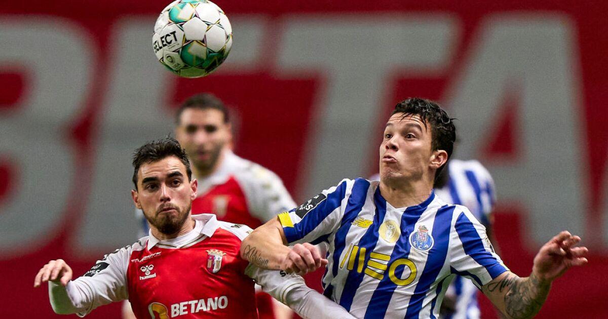 Resultado doloroso para el Porto de Mateus Uribe y Luis Díaz: se dejó empatar 2-2 con Braga