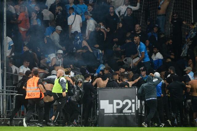 Enfrentamientos entre los hinchas, en la Liga de Francia