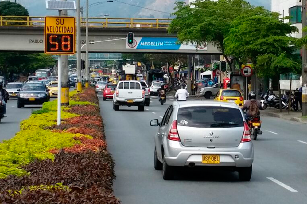 276096_Radar de velocidad / Foto: Secretaría de Movilidad de Medellín