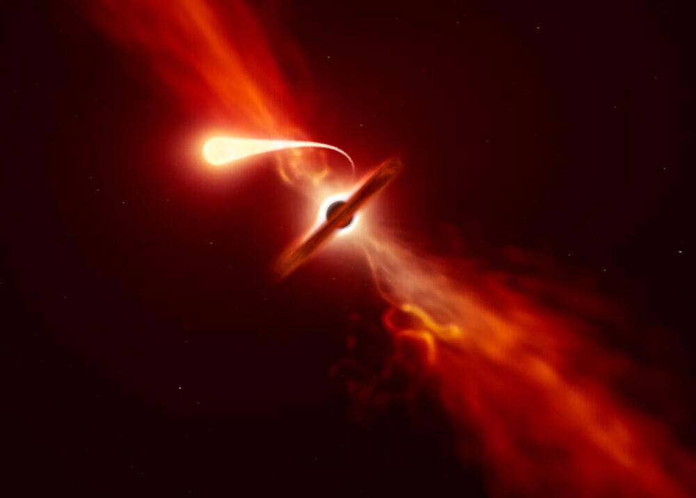 Explosión de luz de una estrella destrozada por un agujero negro supermasivo
