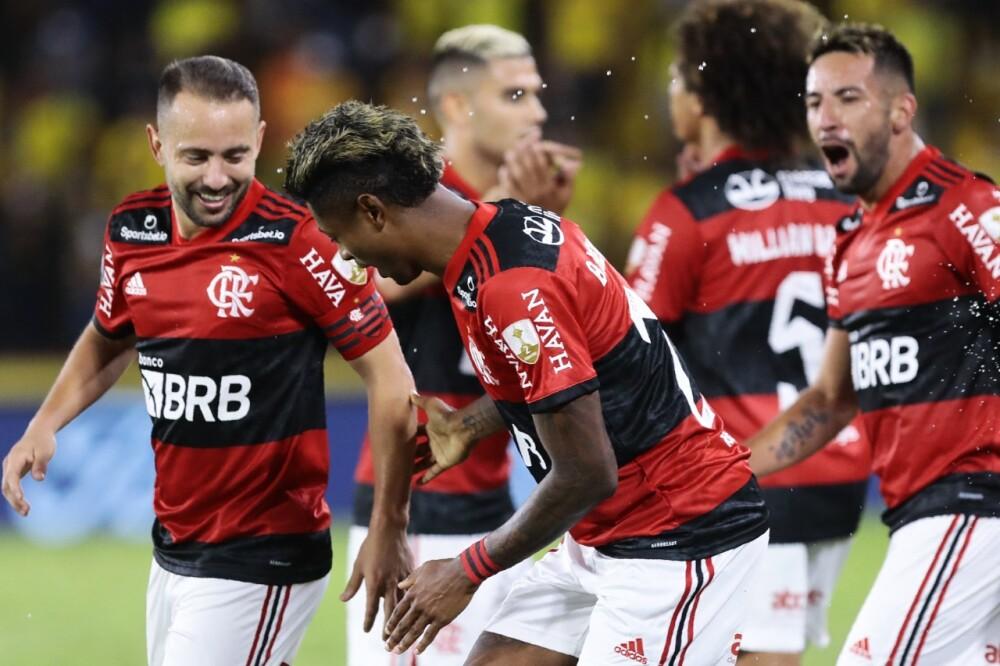 Jugadores de Flamengo. AFP.jpeg
