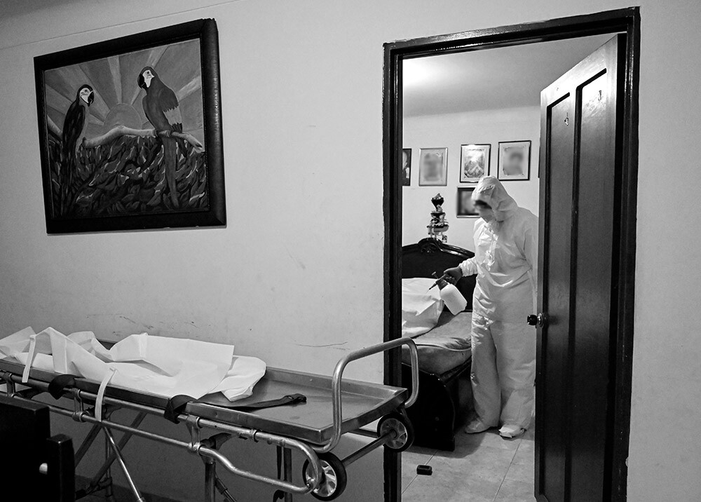 373631_Fallecimiento por COVID-19 // Foto: AFP