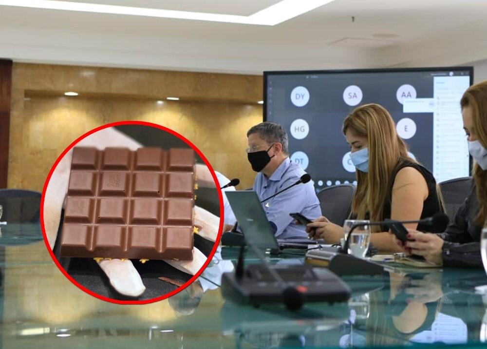 372086_Goberandor (e) Luis Fernando Suárez se habría contagiado COVID-19 con una chocolatina // Fotos: Twitter @LuisFSuarezV - AFP, imagen de referencia