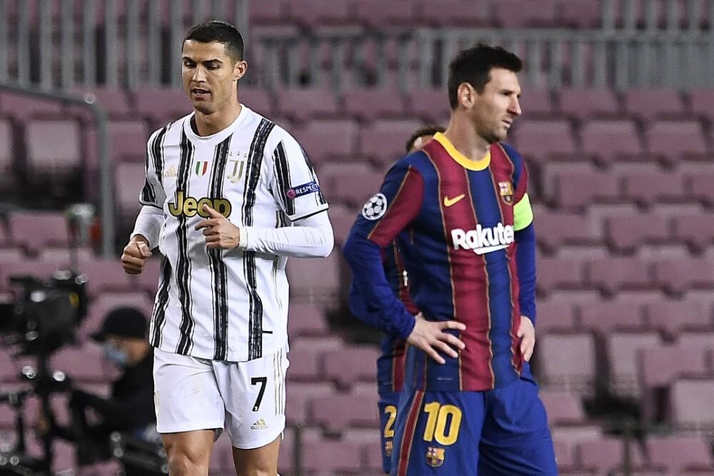 Cristiano Ronaldo y Lionel Messi. Foto: AFP