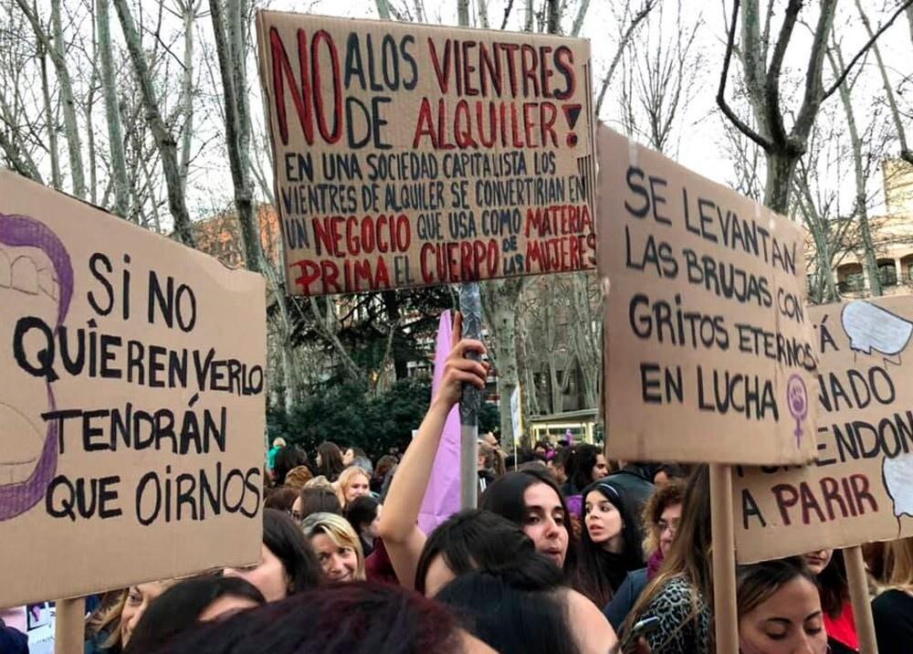 Protesta contra el alquiler de vientres : Foto: Facebook surrogacy.abolition.jpeg