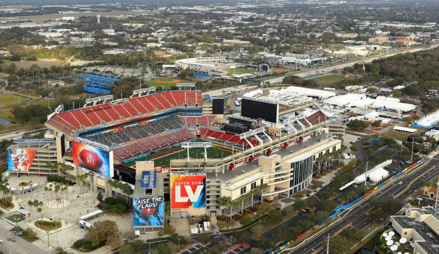 f Raymond James Stadium, escenario en el que se disputará el Super Bowl.