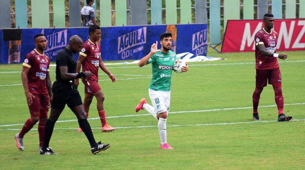 Gastón Rodríguez, jugador del Deportivo Cali. Dimayor.jpeg