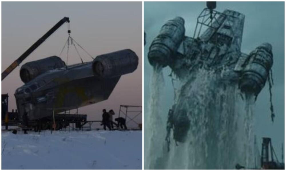fanáticos de 'Star Wars' construyeron replica gigante de la nave de Mandalorian.jpg