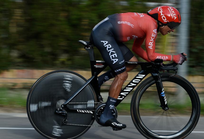 Nairo Quintana en la contrarreloj de la Vuelta a Cataluña.