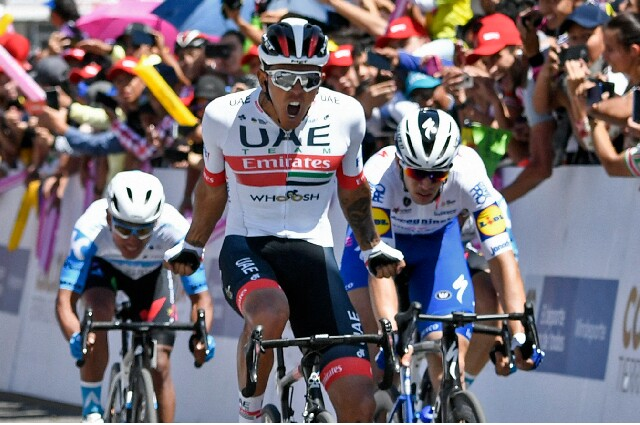 Juan Sebastián Molano, ciclista colombiano del UAE Team Emirates