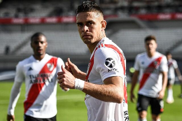 Rafael Santos Borré, máximo goleador de la era Gallardo en River Plate