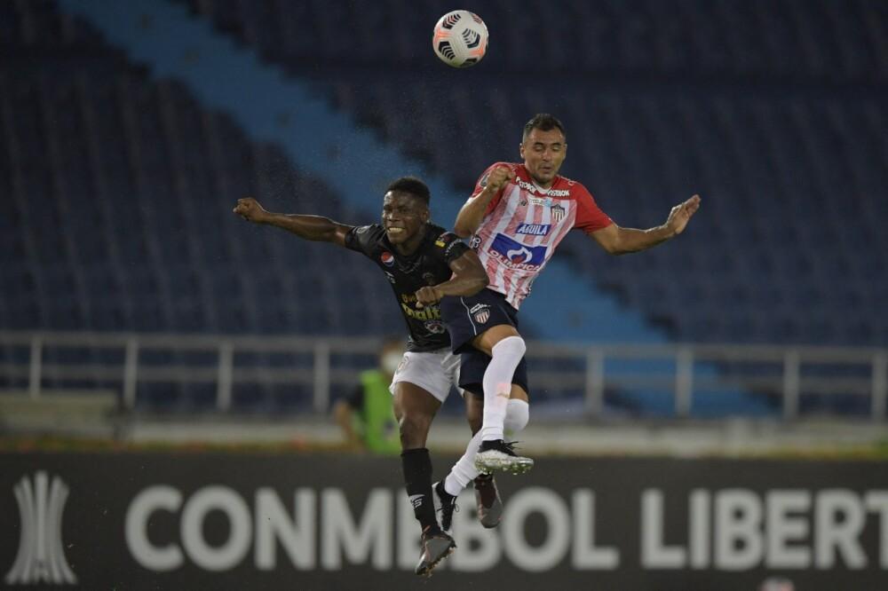 Marlon Piedrahita, jugador de Junior. AFP.jpeg