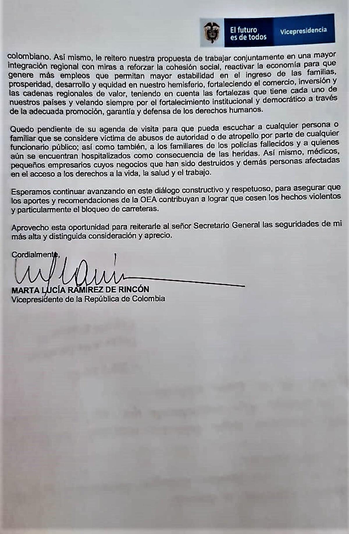 2 Documento Gobierno a Luis Almagro (OEA)
