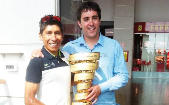 Nairo Quintana y Garikoitz Baños trabajaron durante varios años en el Movistar Team.