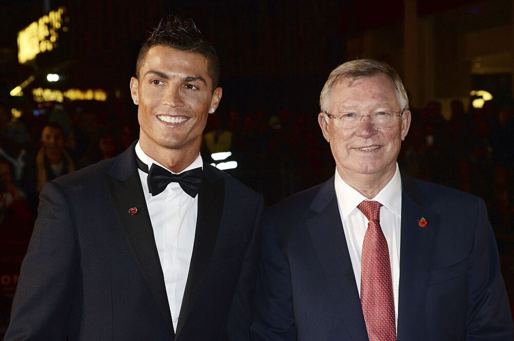 Cristiano Ronaldo y Alex Ferguson