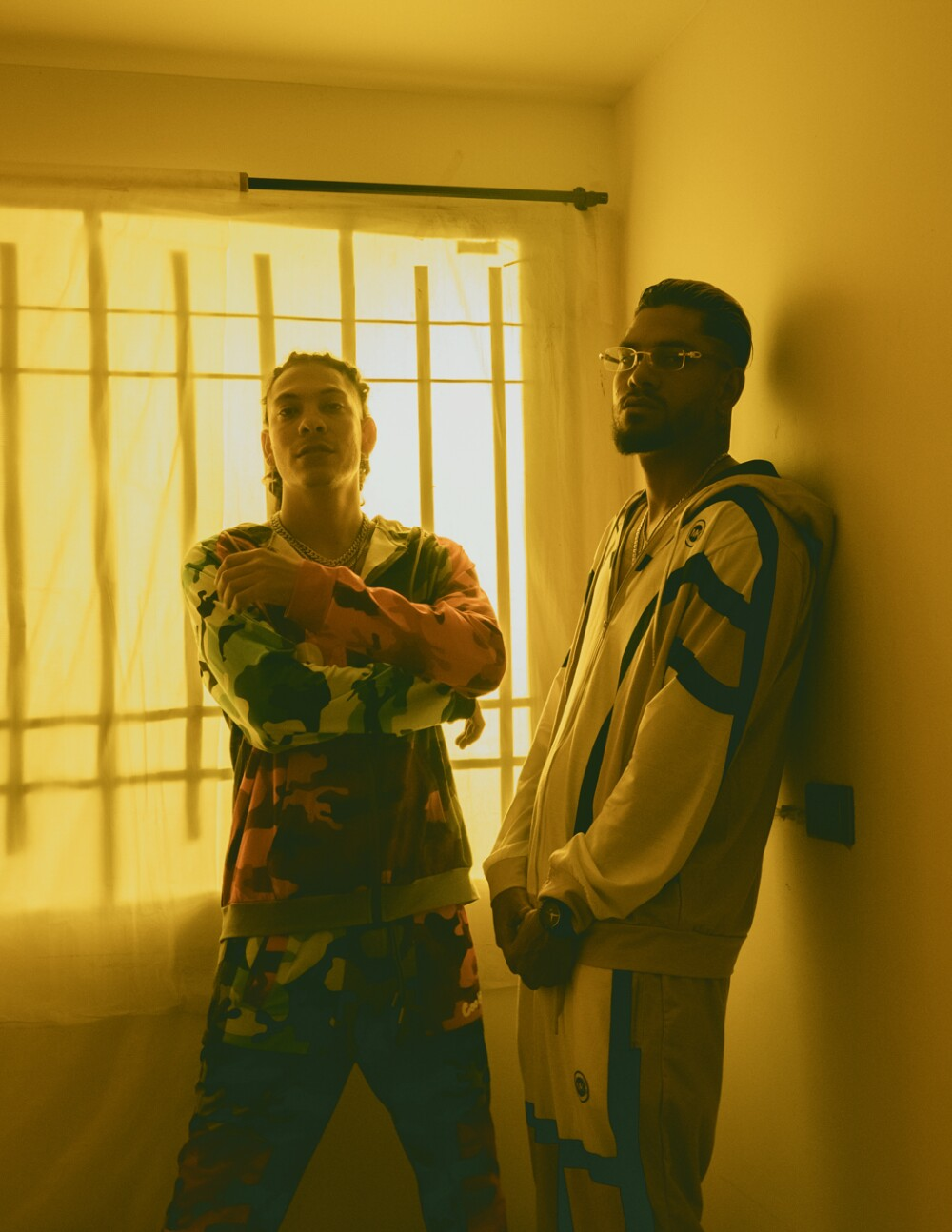Natan y Shander, artistas colombianos de música urbana.