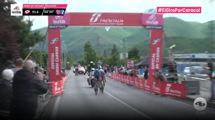 Esprint intermedio etapa 10 Giro de Italia