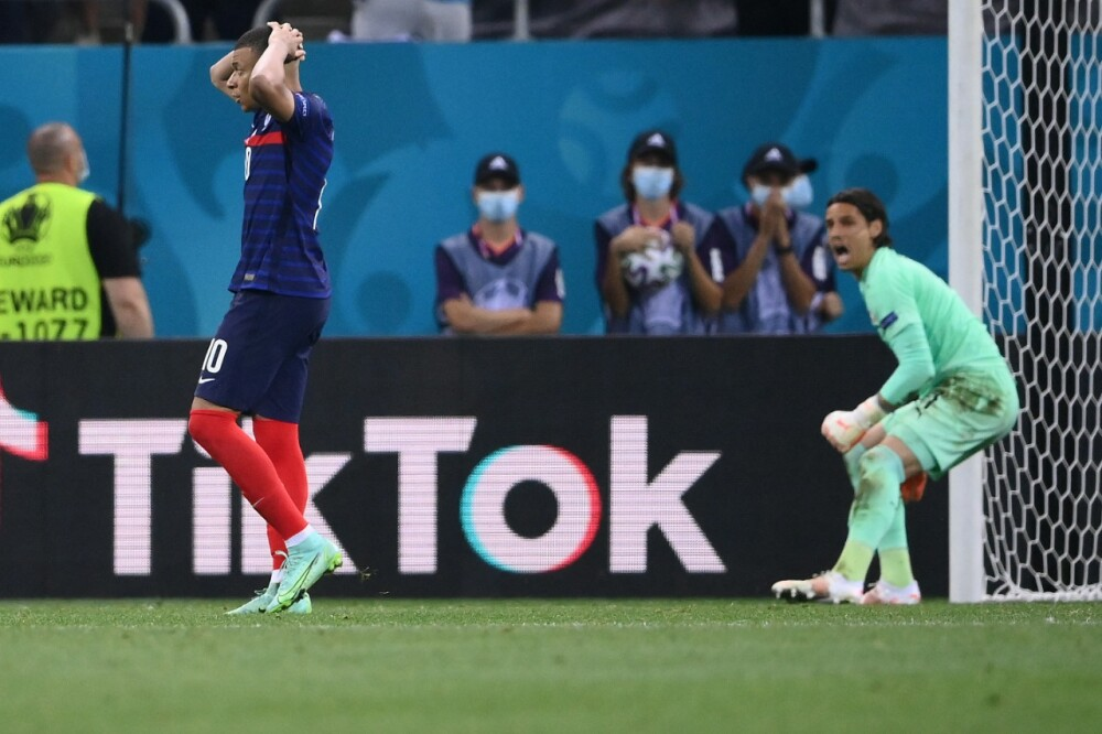 Mbappé falló penal con Francia ante Suiza en Eurocopa AFP.