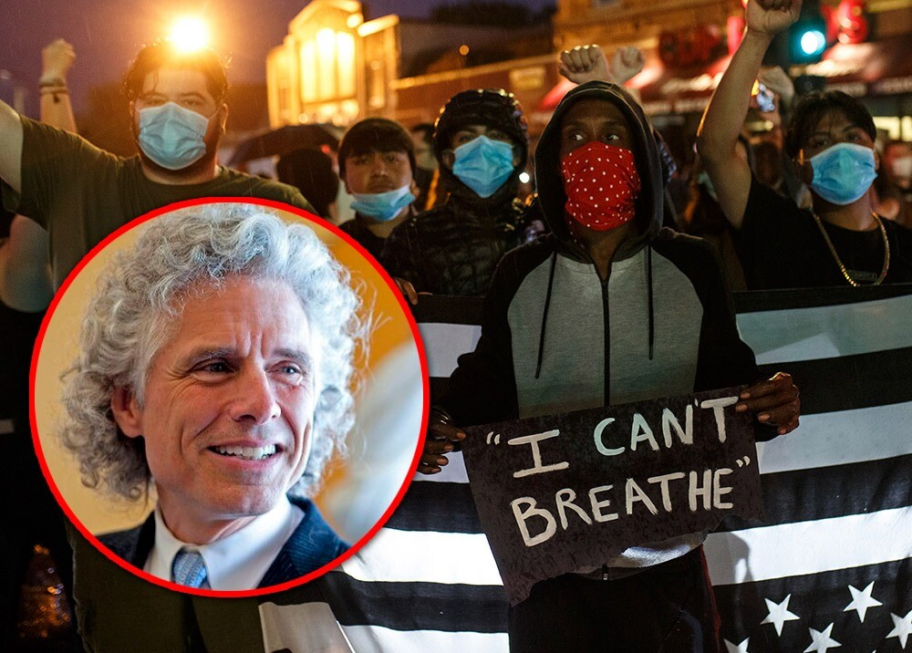 370210_Duras críticas contra Steven Pinker por su posición frente al racismo // Fotos: AFP, Twitter @sapinker