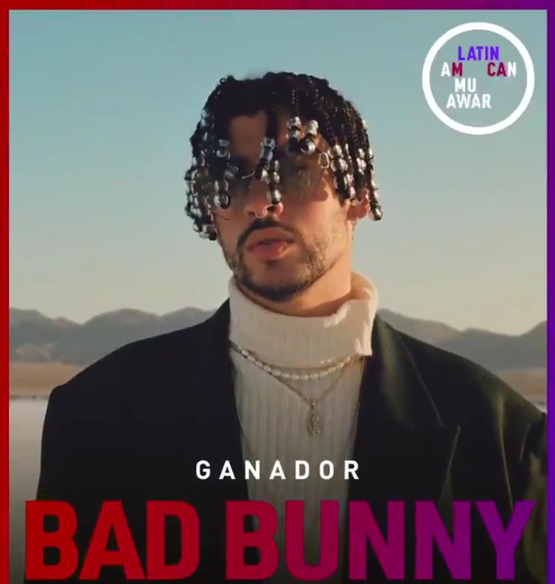 Bad Bunny arrasa en los Latin American Music Awards
