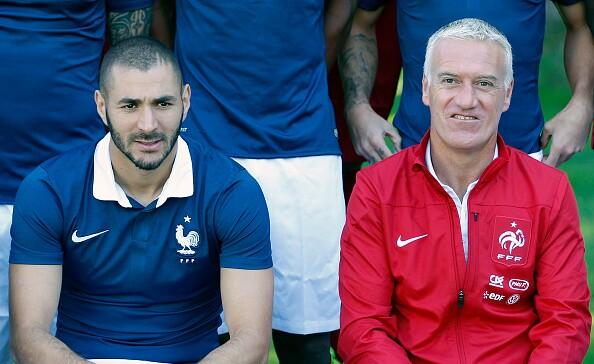 Didier Deschamps y Karim Benzema