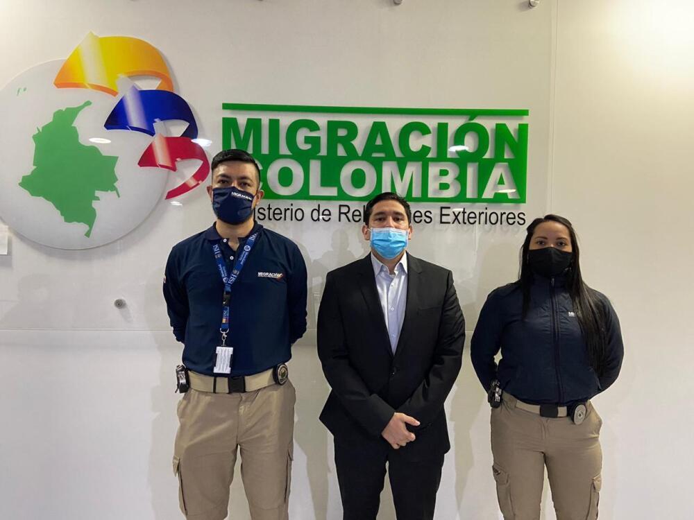 Luis Gustavo Moreno llega a Colombia tras cumplir condena en EEUU. Foto Migración Colombia.jpeg
