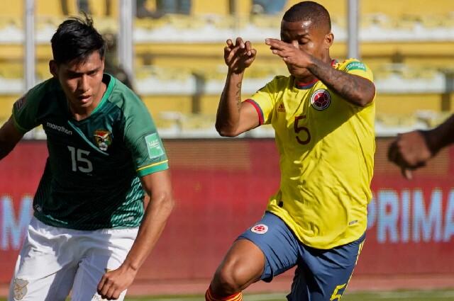 Wilmar Barrios, en Bolivia vs. Colombia por Eliminatorias