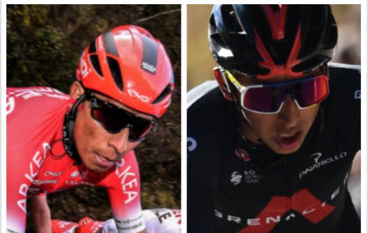 Nairo Quintana y Egan Bernal estarán en la Tirreno-Adriático 2021.