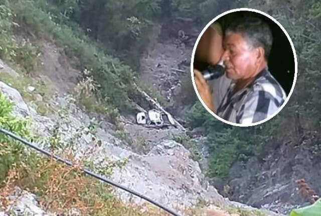 El vehículo se precipitó a un abismo de 200 metros. Foto: Cortesía @soydeituango