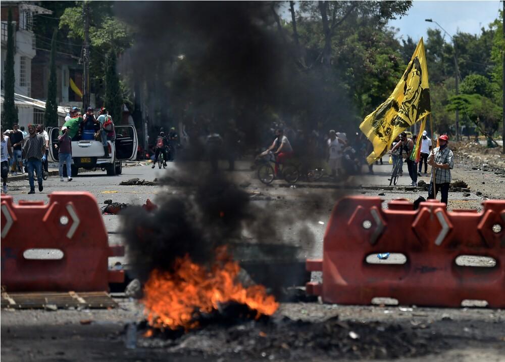 Bloqueos en vías de Colombia Foto AFP (2).jpg