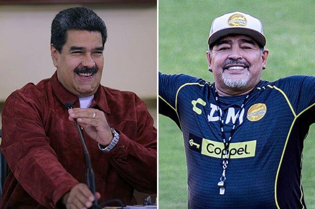 295749_Diego Maradona y Nicolás Maduro
