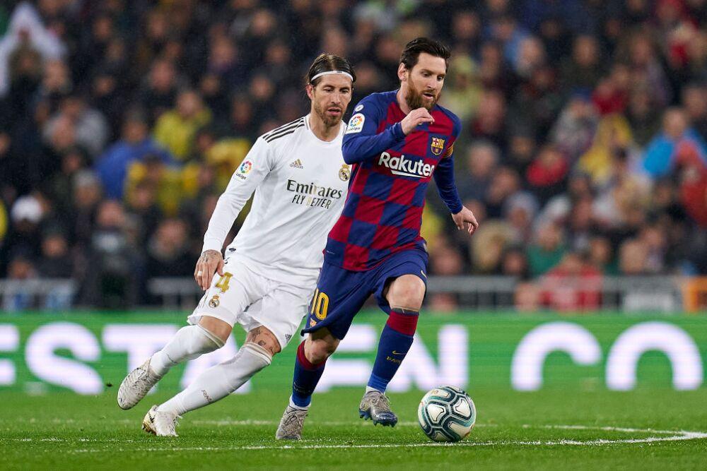 Sergio Ramos y Lionel Messi, Real Madrid vs Barcelona
