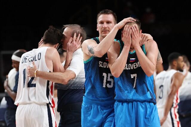 Francia contra Eslovenia, en baloncesto de los Juegos Olímpicos de Tokio