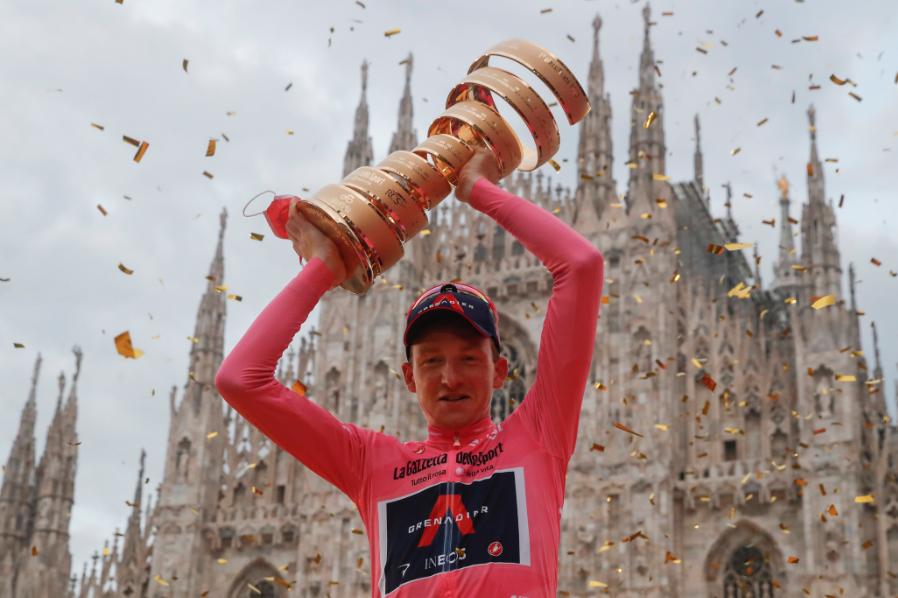 Tao Geoghegan Hart, campeón del Giro de Italia 2020.