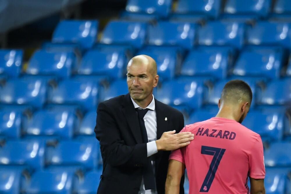 Zidane y Hazard / AFP