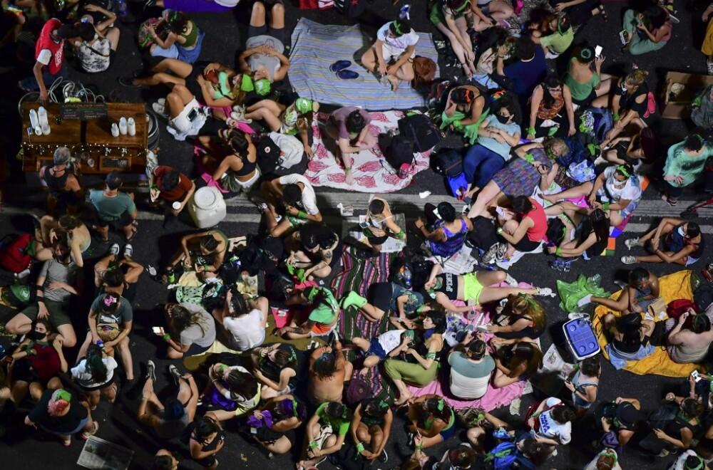 Manifestación proaborto en Argentina