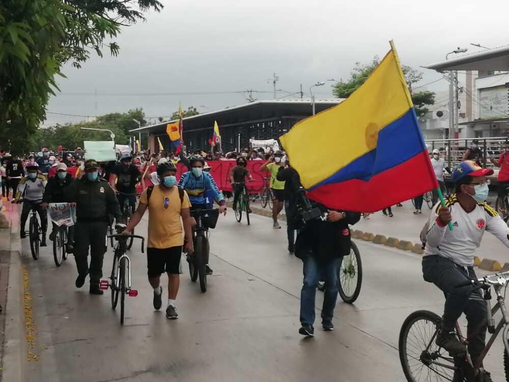 Marchas en Barranquilla.