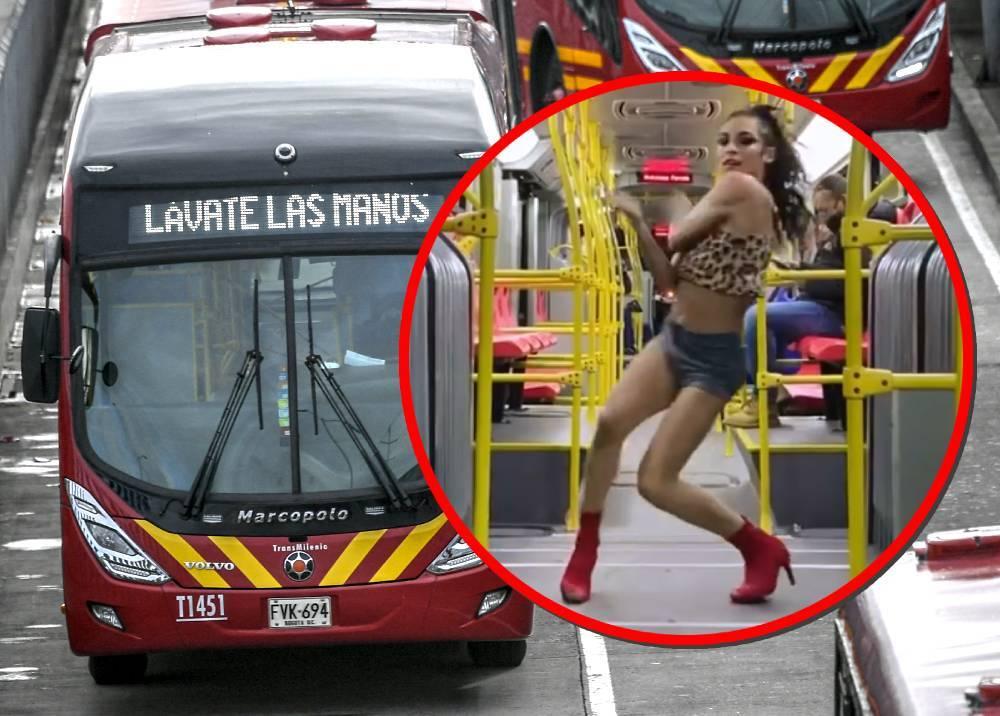 TransMilenio y activista bailando en el sistema